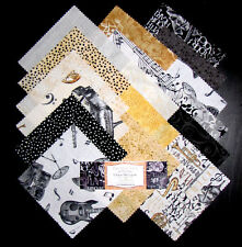 "Music Theme Fabric - 5"" Charm Pack - 24 Squares Kit - Wilmington Play Your Song"