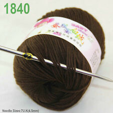 Sale 1 ball x 50g Cashmere Silk velvet Children hand knitting solid color Yarn O