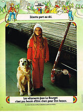 PUBLICITE ADVERTISING  1973   JEAN LE BOURGET  mode enfants vetements de ski