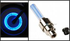 Car Motorcycle Bicycle Blue Firefly LED Flashing Wheel Tire Valve Cap indicator