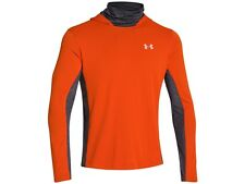 Men's Under Armour UA Ridge Reaper Hydro L/S Hoodie Hooded Shirt Orange Size L