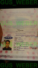 The Bourne Identity, supremacy, Ultimatum USA passport prop Jason BOURNE NEW!
