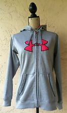 * UNDER ARMOUR M WOMEN'S COAT BASIC JACKET GRAY SOLID MEDIUM GREY PINK *