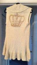 Vertigo Paris designer sweater Vest With Crown, New W Tags