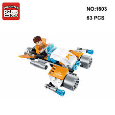 Enlighten 1603 Space Adventure Lightning Hoverbike Figure DIY Building Block Toy