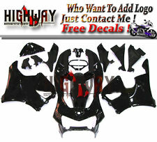 Gloss Black ABS Plastic Full Fairing Bodywork Kit For Honda CBR900RR 919 98 99
