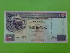 Hong Kong 2002 HSBC Bank $50 (UNC) DR 525724