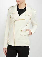 SELECTED FEMME IVORY JET STREAM BIKER JACKET NEW SIZE 40/L UK 12 WAS £99