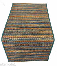 MISSONIHOME TAPPETO CARIOCA T125 OCEAN 55x120cm WOOL JUTE COTTON AREA CARPET