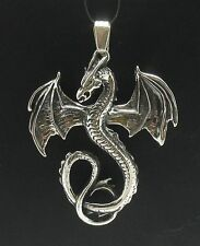 STERLING SILVER PENDANT SOLID 925 DRAGON PE000132 EMPRESS