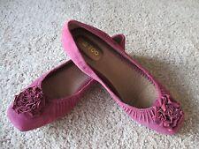 NWOB ME TOO Women`s Venous Cabernet Nubuck Leather Ballet Shoes sz 9 M