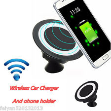Wireless Charger Dock Magnetic 360° Mount Car Holder Charging Pad For All Phones