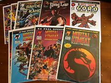 MORTAL KOMBAT lot of 11 Malibu comics KUNG LAO,RAYDEN & KANO 1-3,GORO,TOURNAMENT