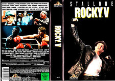 "VHS - "" ROCKY V ( 5 ) "" (1990) - Sylvester Stallone - Talia Shire - Burt Young"