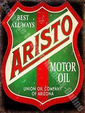Vintage Garage, Aristo Motor Oil Petrol Advertising, Car, Large Metal/Tin Sign