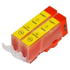 2 Tintenpatronen CANON + Chip CLI-521 Y PIXMA IP 4600 IP 4700 NEU