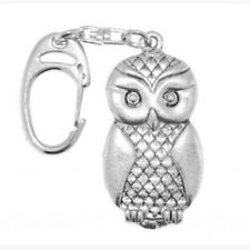 Key Ring NEW in Box  Owl handcrafted English Pewter Keyring Wise Bird 9042