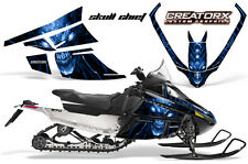 ARCTIC CAT F SERIES SNOWMOBILE GRAPHICS KIT CREATORX DECALS SKULL CHIEF BLUE