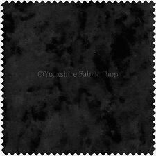 Upholstery Grade Fabric In Black Crushed Velvet Texture - FR Marks Damage Cloth