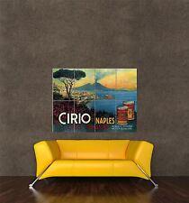 GIGANTE STAMPA POSTER vintage pubblicità pomodori CIRIO cibo in scatola il Vesuvio VULCANO pdc212