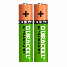 2 x Duracell AAA 750 mAh Rechargeable Batteries NiMH ACCU LR03 HR03 DC2400