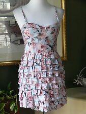 BB Dakota Floral Tiered Ruffle Bustier Empire Dress 6