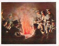 Campfire southwest Africa Orange River Deutsches Heer WWI WELTKRIEG 14/18 CHROMO