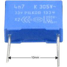 10st entstörkondensator Pi mkp x2 4700pf 4,7nf 305vac rm10 conforme con RoHS mercancía nueva