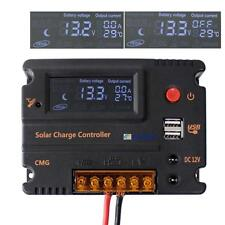 20A LCD Solar Panel Battery Regulator Charge Controller 12V 24V Auto Switch BS