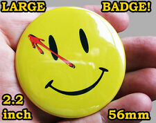 WATCHMEN SMILEY FACE Badge Button Pin - LARGE 56mm/2.2inch size! - COOL!