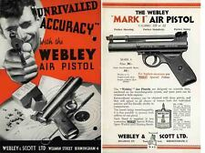 Webley & Scott 1932 Air Pistol Catalog
