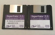 Floppy Disk SuperVoice 2.2 for Windows Pacific Image Rockwell ACF 56/33.6/SVD V2