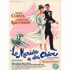 Affiche 60x80cm LA MARIÉE A DU CHIEN /WILD AND WONDERFUL 1963 Tony Curtis