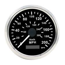 85mm Auto Digital Stainless GPS Speedometer 200MPH 300KMH For 12V 24V Car Truck
