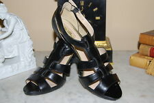 SAM & LIBBY BLACK STRAPPY HIGH HEEL PLATFORM OPEN TOE WOMEN'S SHOES SIZE 9 M