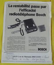 FASCICULES RADIOTÉLÉPHONE BOSCH 1970/80