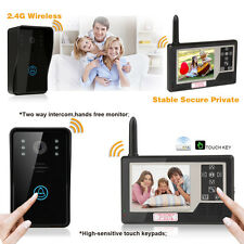 "3.5"" LCD Color Wireless Video Doorbell Door Phone Intercom System CCTV Monitor"