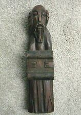 ANTIQUE RELIGIOUS WOOD CARVING OF A FIGURE