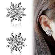 Fashion Women Crystal Rhinestone Snowflake Ear Stud Earrings Christmas Xmas Gift