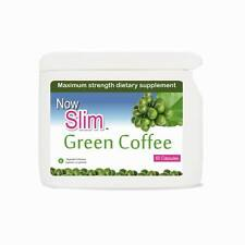 60 NOW SLIM GREEN COFFEE BEAN CAPSULES, 100% NATURAL MAX STRENGTH SLIMMING PILLS