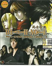 DVD Death Note Vol. 1-37 End + Special + 3 Live Action Movies