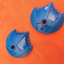 LEGO Parts~(2) Bionicle Weapon 5 x 5 Shield w 3 Top Fins BLUE 41664