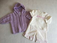 Baby Girls Clothes Newborn - Cute Winter Outfit  -Top, Trousers & Cardigan  -
