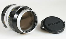105MM F 2.5 NIKKOR P NIPPON KOGAKU LENS WITH FILTER AND CAPS