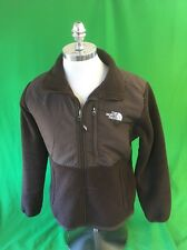 North Face Brown Denali Polartec Polyester Fleece Zip Up Jacket Woman's Large
