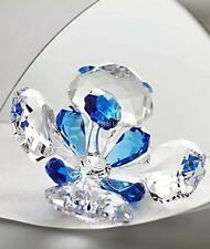 SWAROVSKI CRYSTAL 2015 SCS PEACOCK FLOWER 5068820 MINT BOXED RETIRED RARE