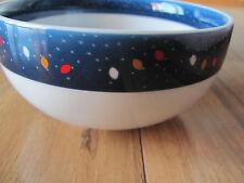 Dansk Village Lights-Blue Rims Houses Christmas Lights- Set of 2 Fruit Bowls
