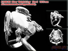 FROG Ring water Jump Lake Animalia Finger Hand Jewelry 925 Sterling Silver