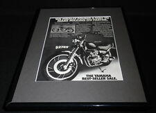 1982 Yamaha Maxim 550 Motorcycle 11x14 Framed ORIGINAL Vintage Advertisement