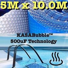 SILVER SOLAR SWIMMING POOL COVER 500 MICRON OUTDOOR BUBBLE BLANKET 10.0 X 5.0M